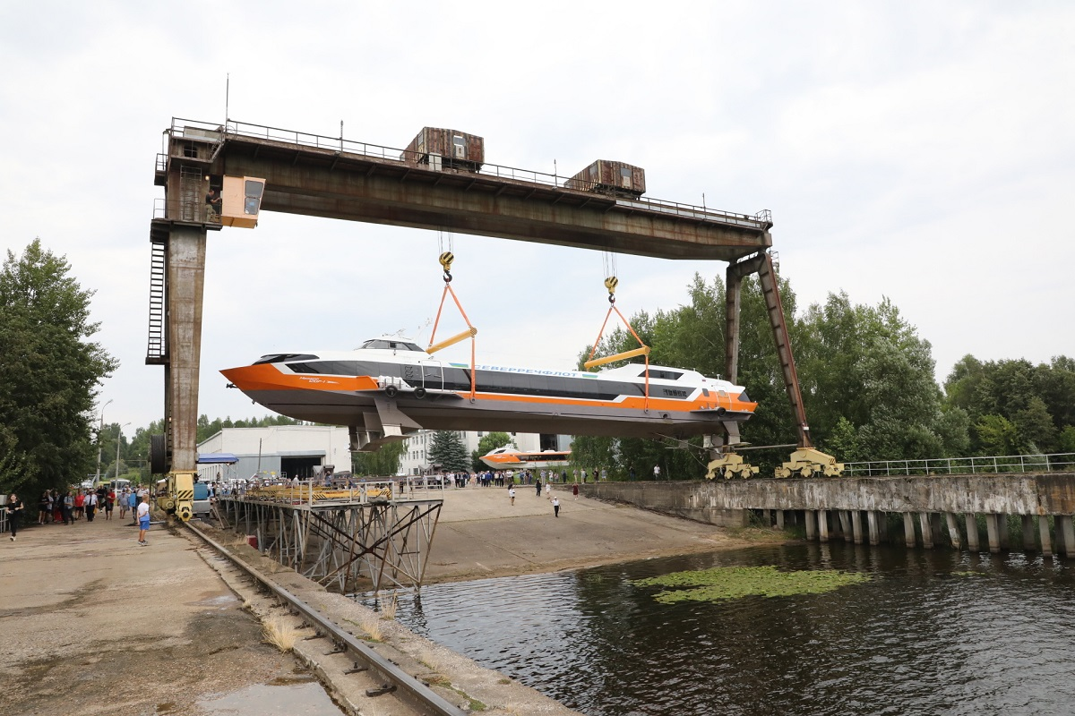 Головное судно «Метеор 120Р» спущено наводу вНижегородской области
