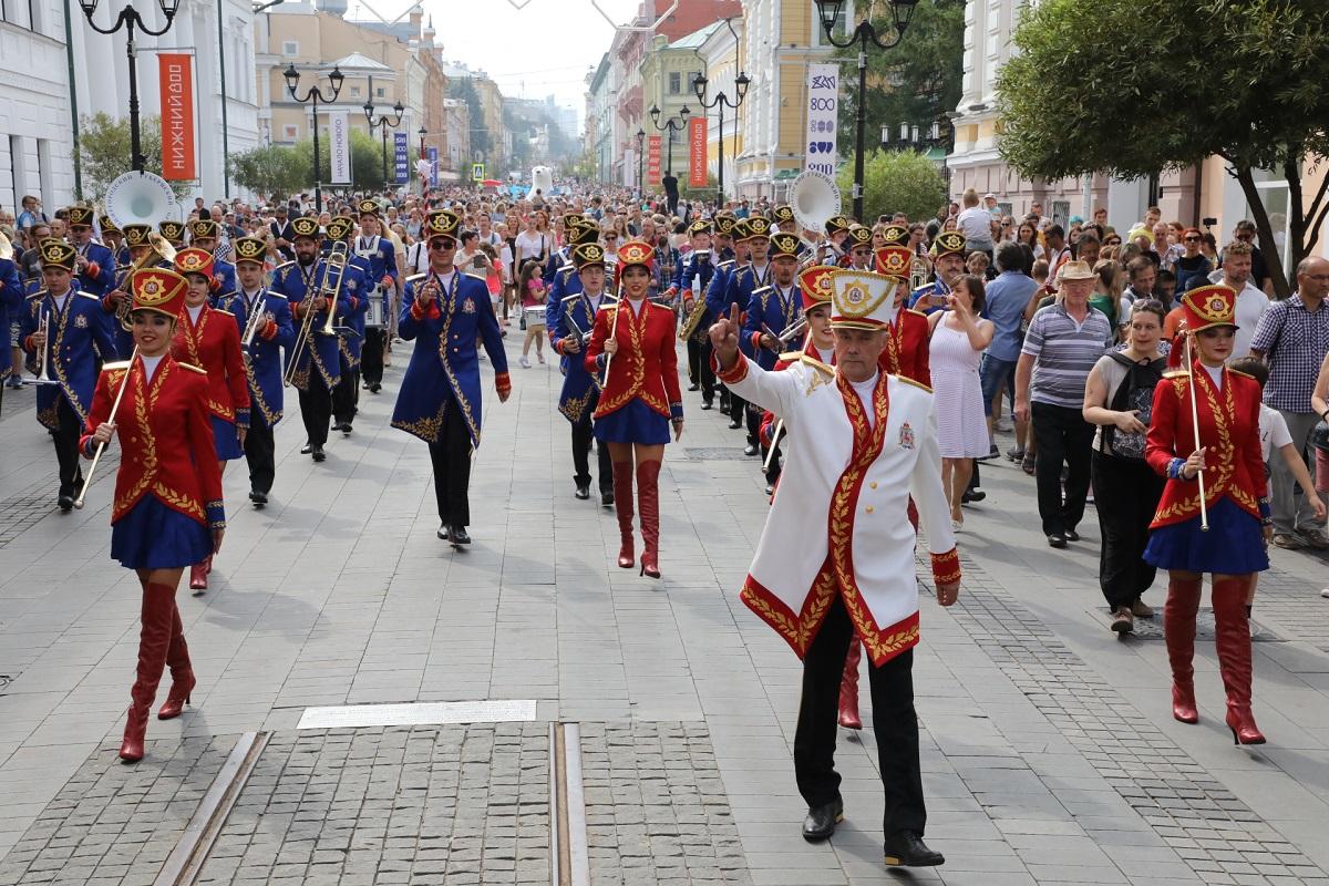 Парад оркестров прошел к 800-летию Нижнего Новгорода