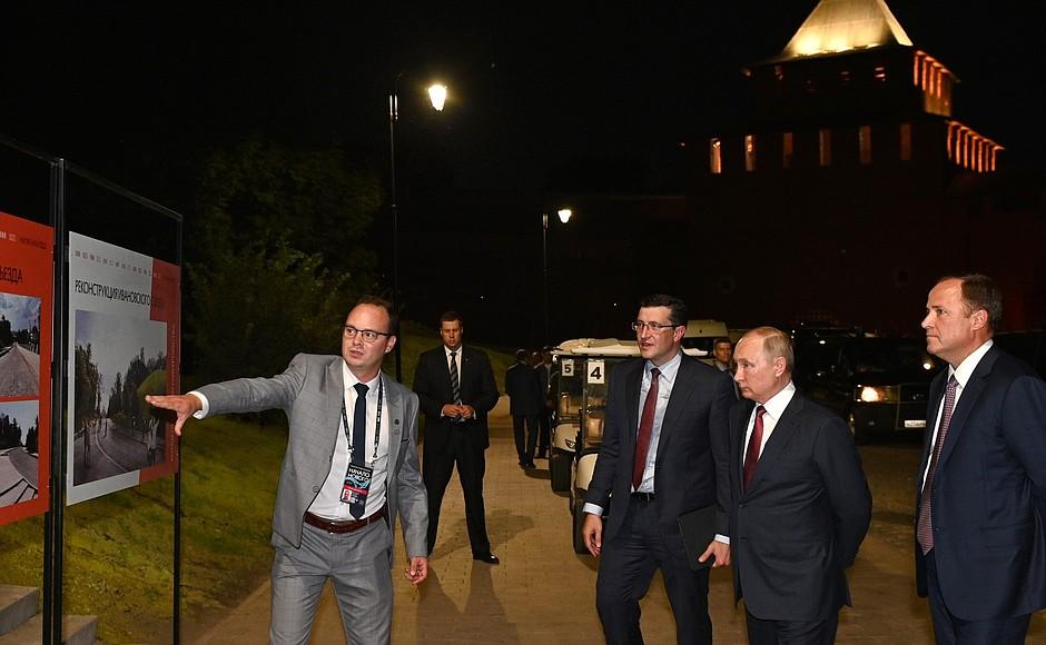 Владимир Путин посетил Нижегородский кремль