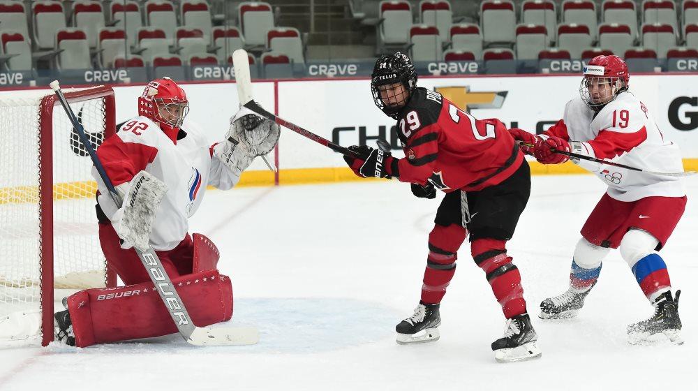 Хоккеистки сборной России проиграли канадкам на чемпионате мира
