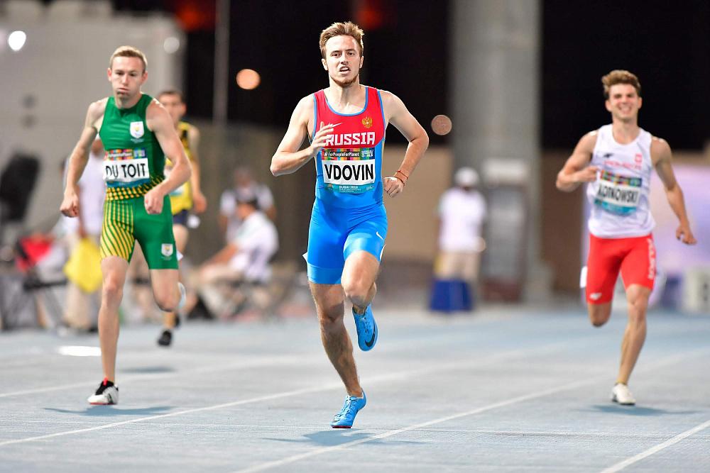 Глеб Никитин поздравил Андрея Вдовина сзолотом Паралимпийских игр