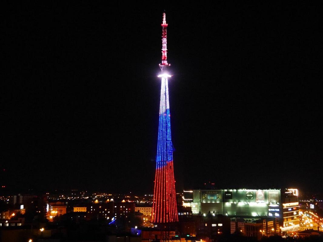ВДень флага нижегородская телебашня окрасится вцвета российского триколора