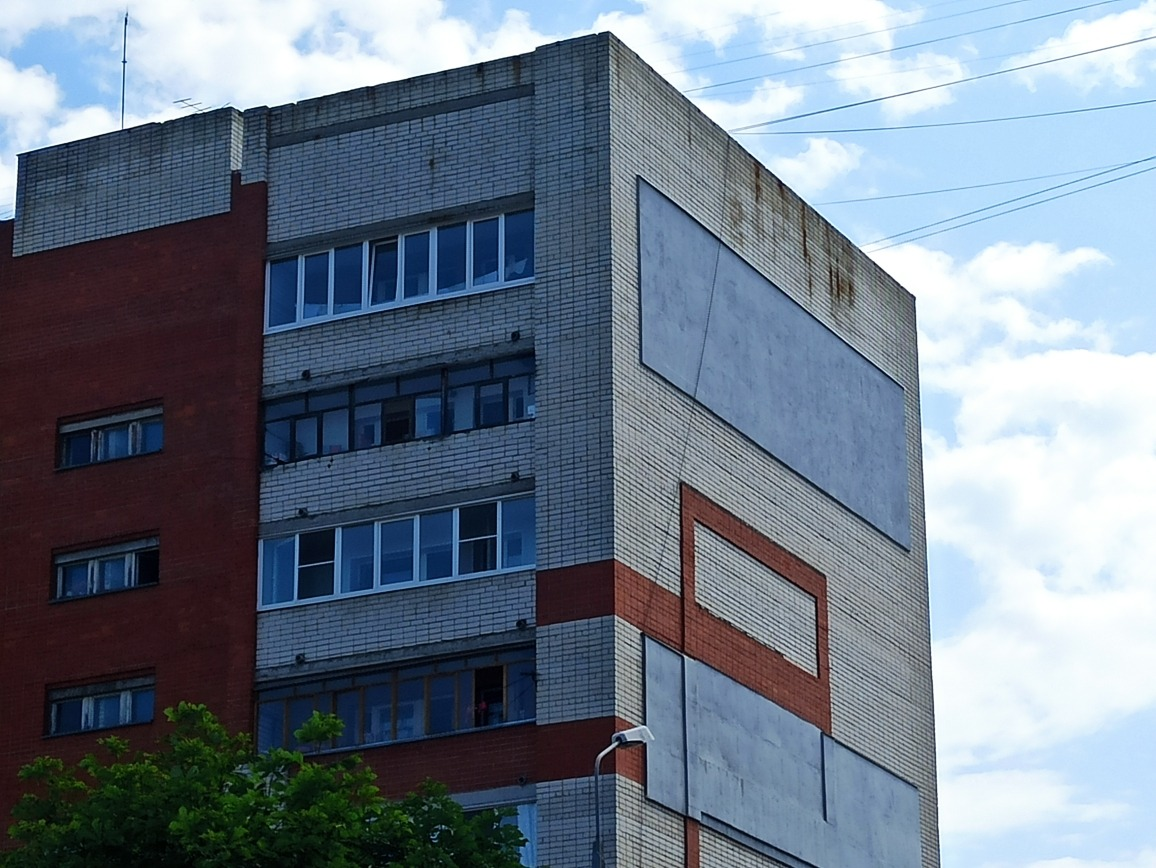 Стену многоэтажки вКстове утеплили для подготовки кзиме после предписания Госжилинспекции