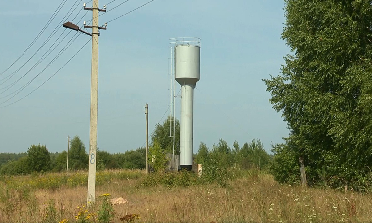В деревне Песочное Воскресенского района восстановлена водонапорная башня