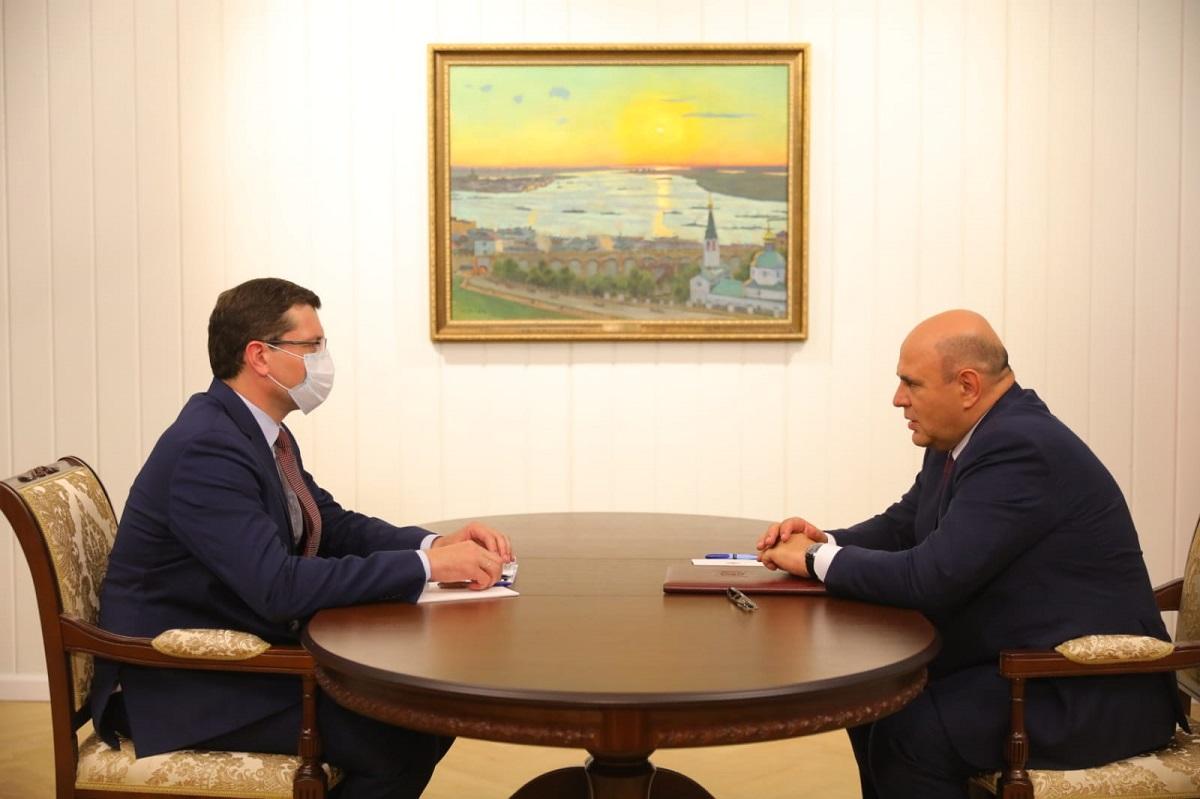 Глеб Никитин представил Михаилу Мишустину планы региона по использованию инфраструктурных бюджетных кредитов