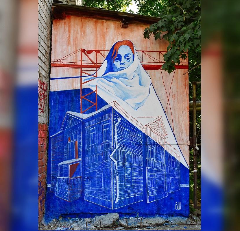 Новый стрит-арт появился в Нижнем Новгороде в рамках фестиваля «Место»