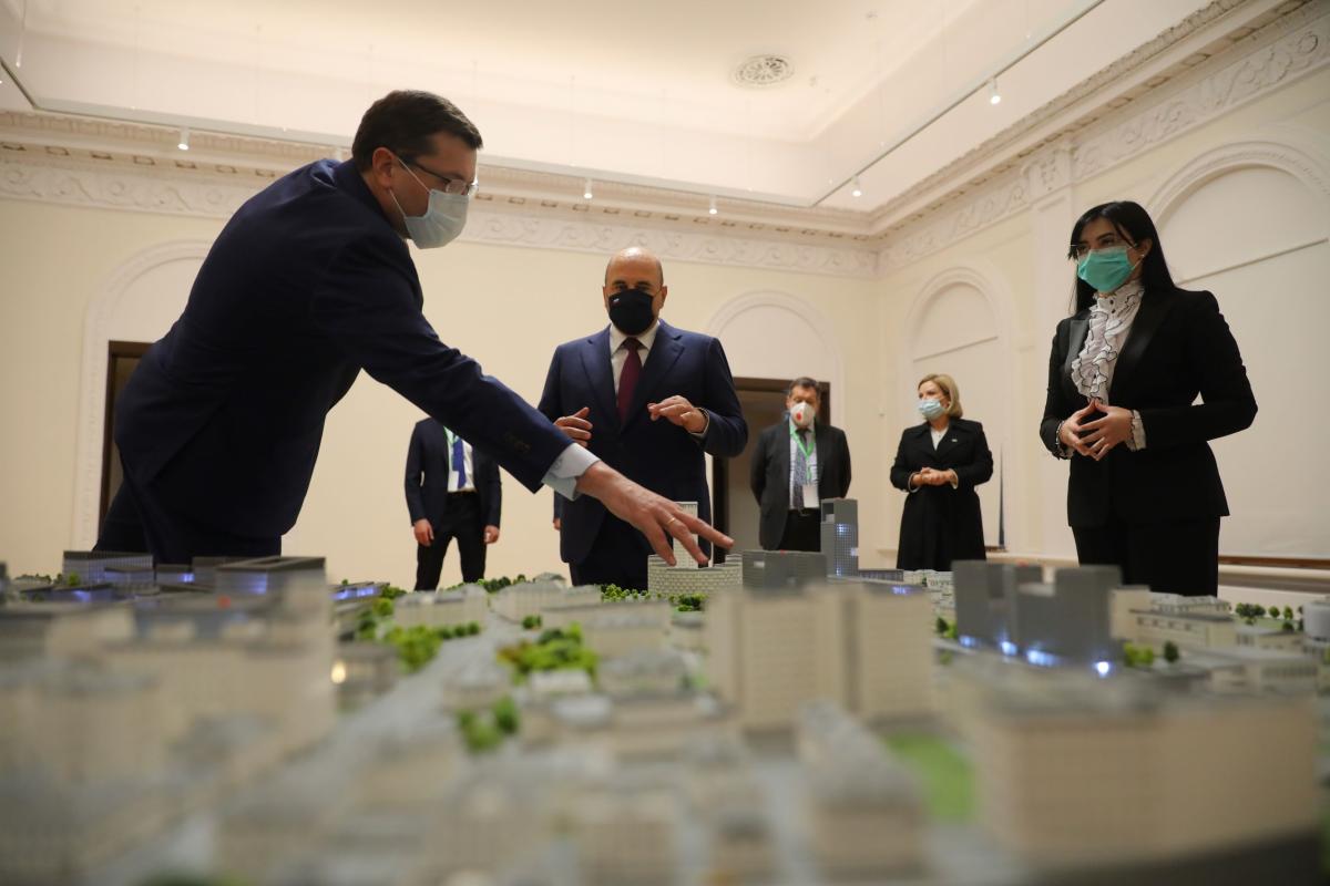 Глеб Никитин представил Михаилу Мишустину проект распределенного IT-кампуса мирового уровня