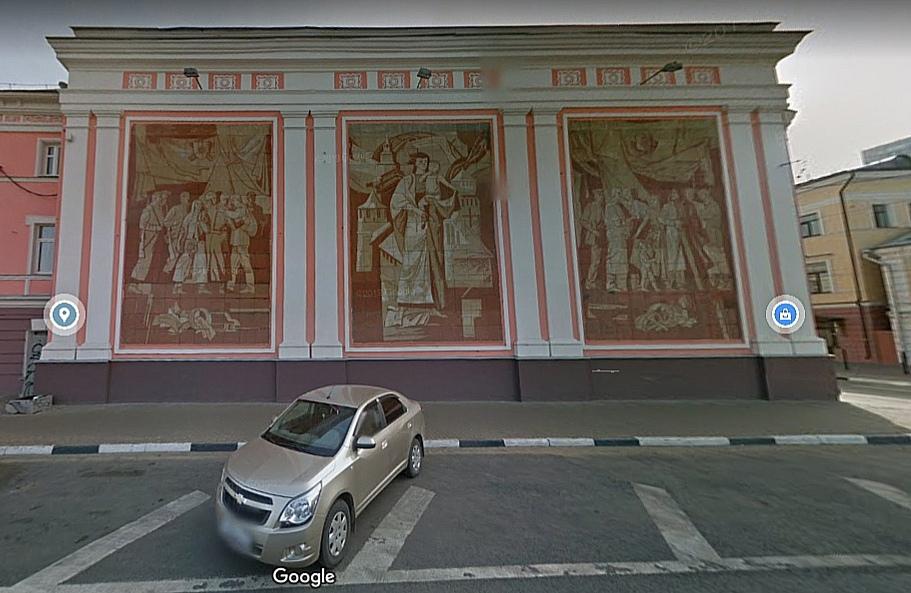 Монументальное панно на улице Рождественской отреставрируют в 2021 году