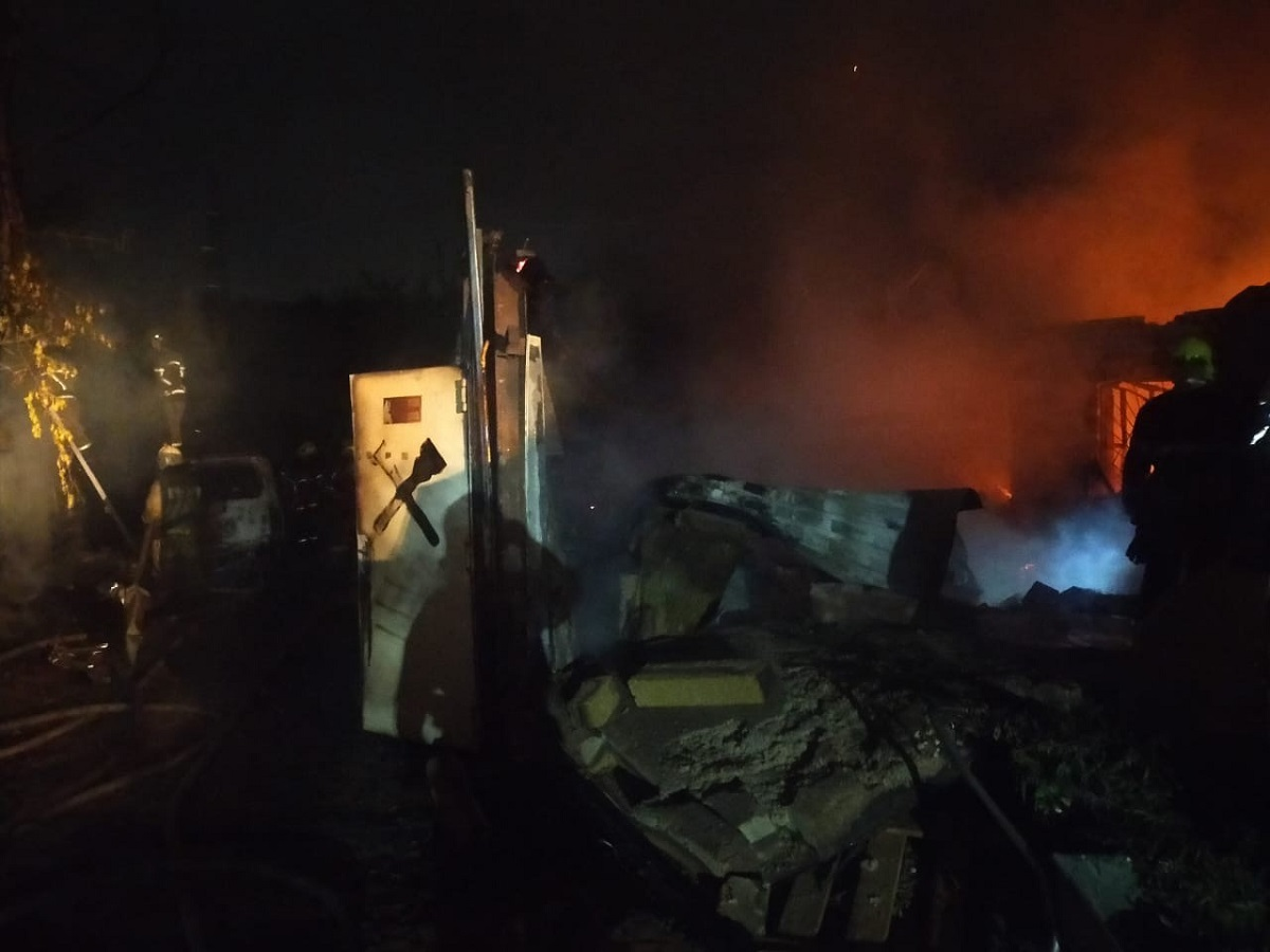 Дом загорелся в СНТ «Ракета» в Нижнем Новгороде