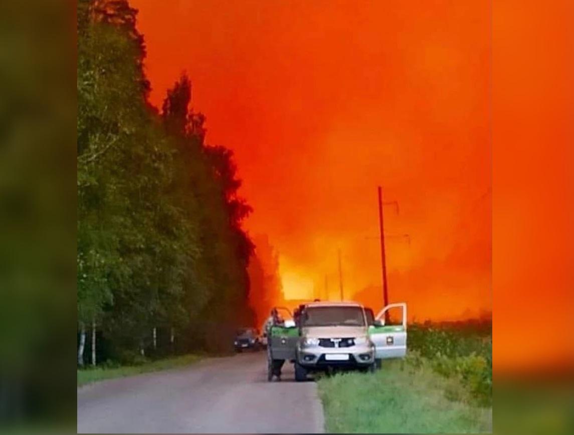 Лесной пожар из Мордовского заповедника перекинулся на поселок в Первомайском районе