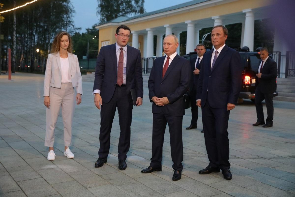 Президент России Владимир Путин посетил парк «Швейцария» вНижнем Новгороде