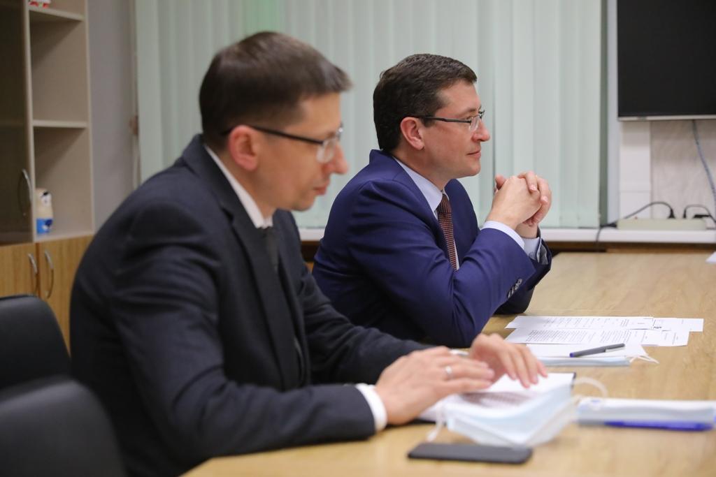 Глеб Никитин иМаксим Акимов провели рабочую встречу