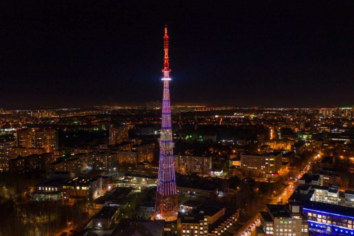 Подсветка нижегородской телебашни включится 2 и 3 октября