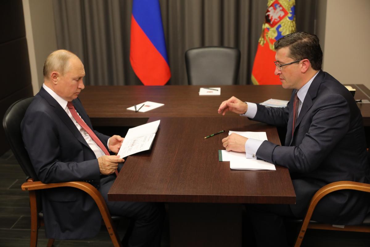 Глеб Никитин обратился кВладимиру Путину спросьбой поддержать проект ВСМ доНижнего Новгорода