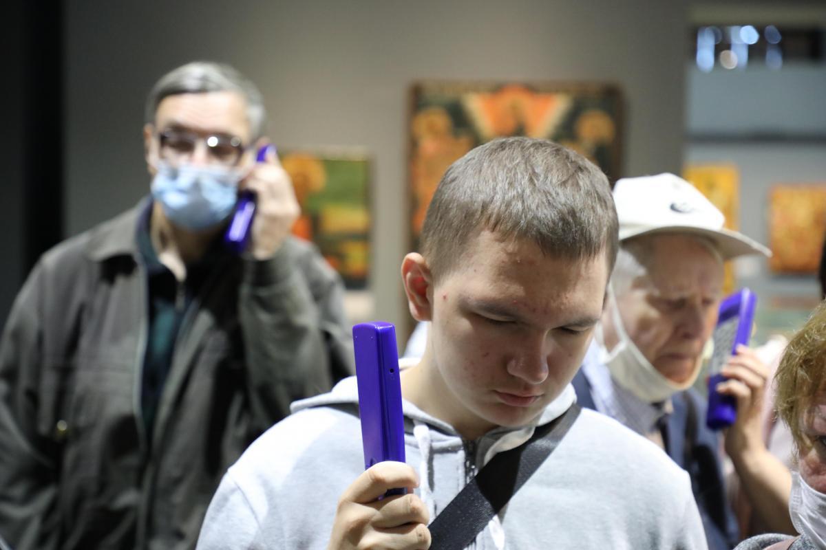 Внижегородском манеже презентовали аудиогид для слабовидящих посетителей