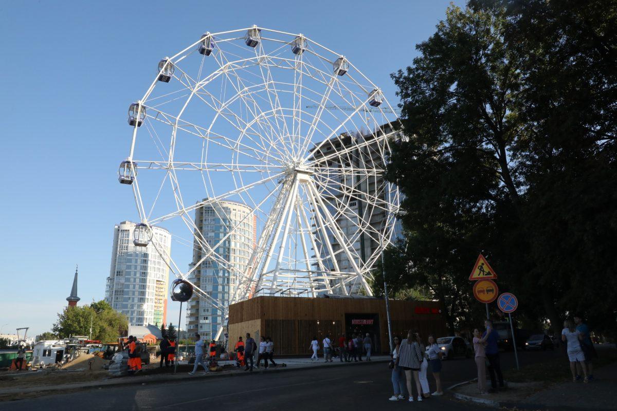 10 ярких кадров с открытия колеса обозрения в Нижнем Новгороде