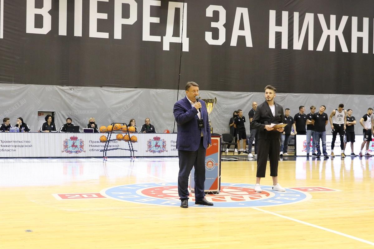 Олег Лавричев принял участие в открытии первого баскетбольного турнира Кубок Хайретдинова