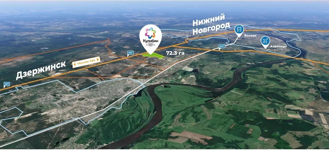 До700 гектаров может быть расширена общая площадь ОЭЗ «Кулибин»
