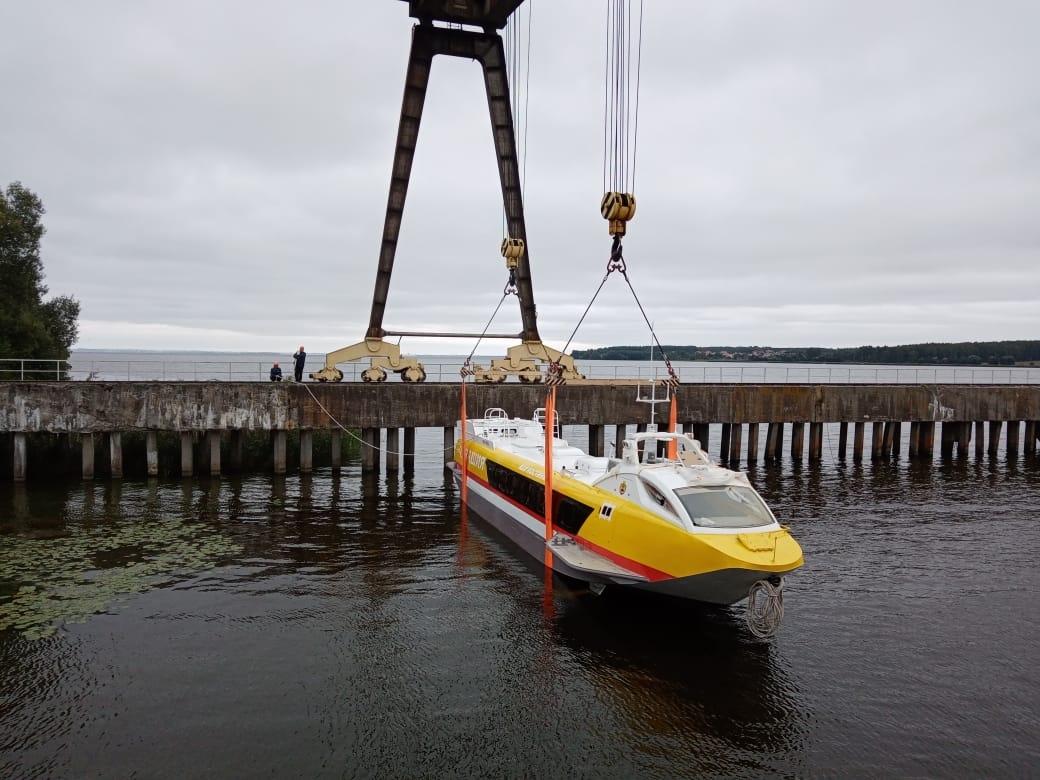 Третье судно «Валдай 45Р» для Чувашии спустили наводу вНижегородской области