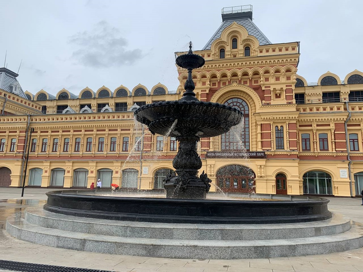Завершилась реконструкция фонтана наНижегородской ярмарке