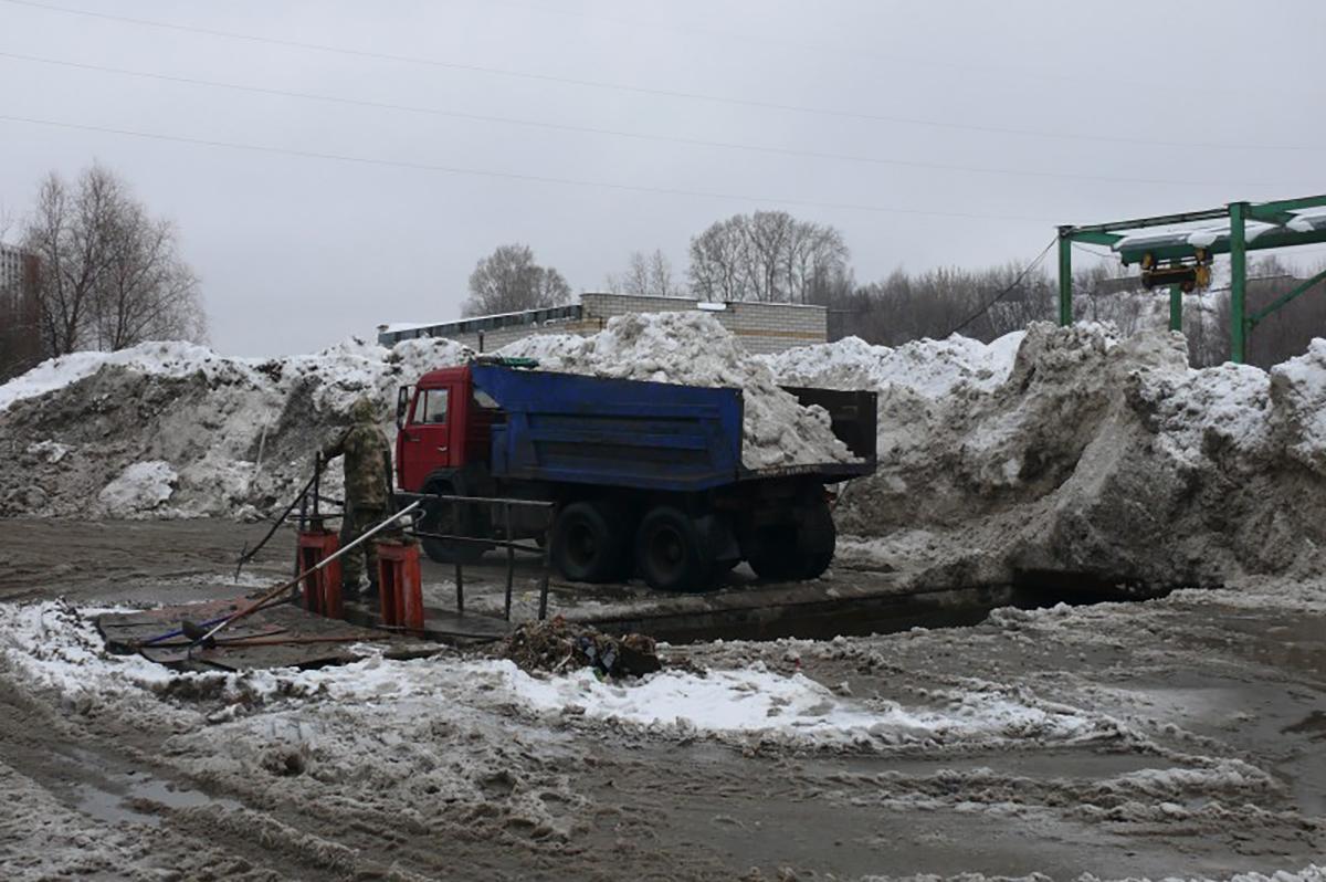 Строительство станции снеготаяния в Нижегородском районе планируется завершить до конца года
