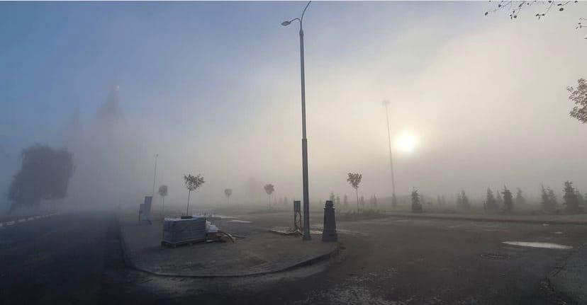 Густой туман окутал Нижний Новгород