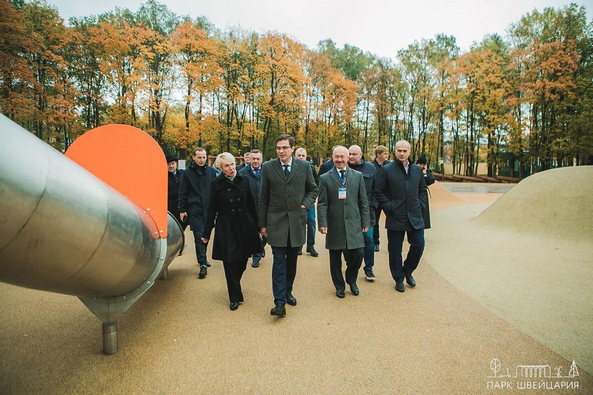 Мэры городов Поволжья оценили благоустройство нижегородского парка «Швейцария»
