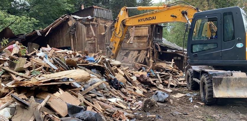 Еще 140 аварийных сараев снесли в Нижнем Новгороде
