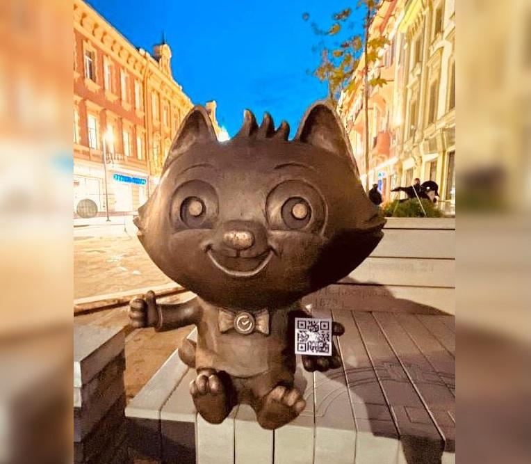 СберКот появился на Большой Покровской  в Нижнем Новгороде к 800-летию