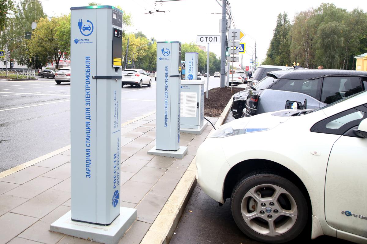 Заправка для электротранспорта появилась рядом с парком «Швейцария» в Нижнем Новгороде