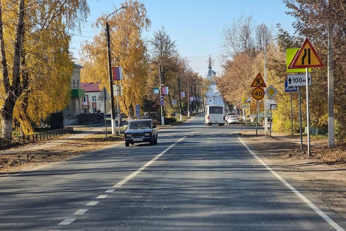 Подъездной путь кАрдатову от трассы Владимир — Муром – Арзамас отремонтировали понацпроекту