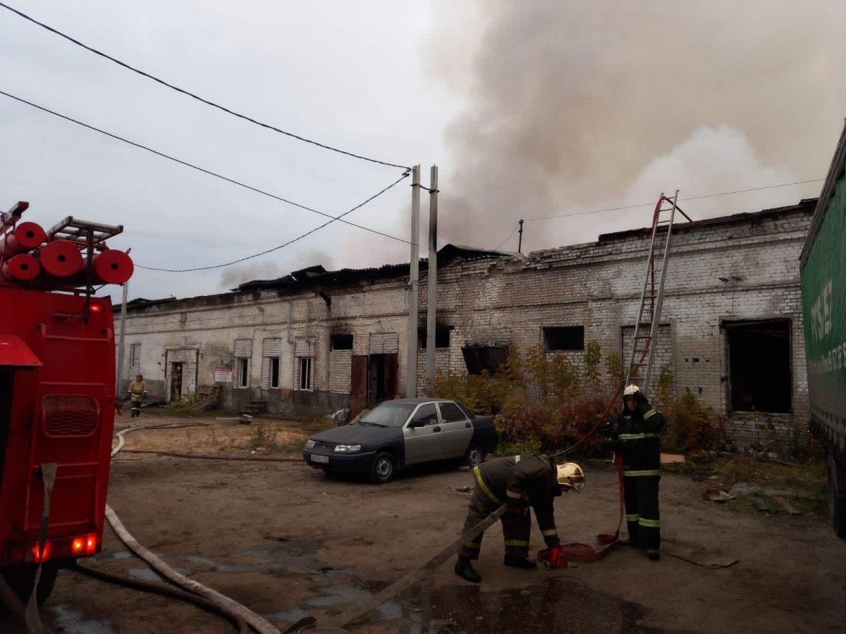 В Дзержинске произошел крупный пожар