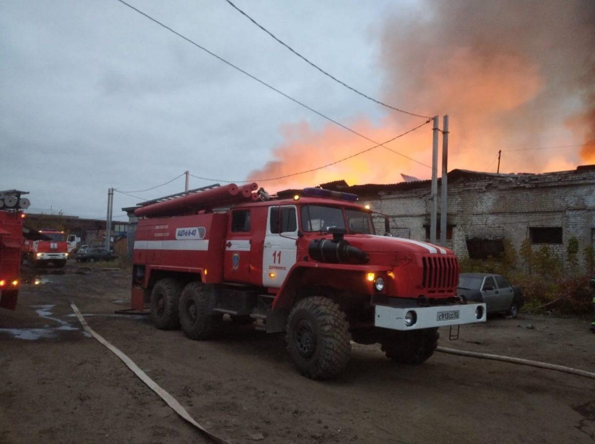 Склады в Дзержинске могли загореться из-за некачественного электрооборудования
