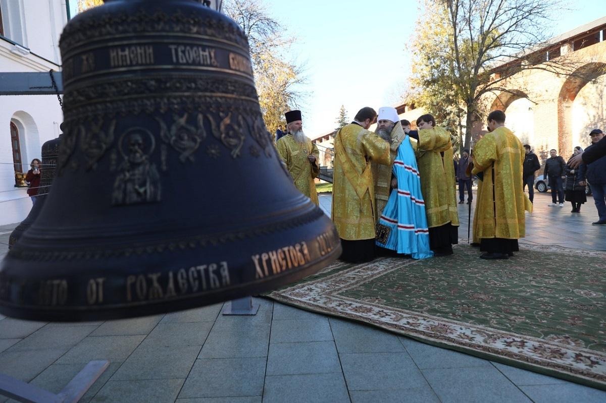 В Нижегородском кремле освятили колокола для храма в честь преподобного Симеона Столпника
