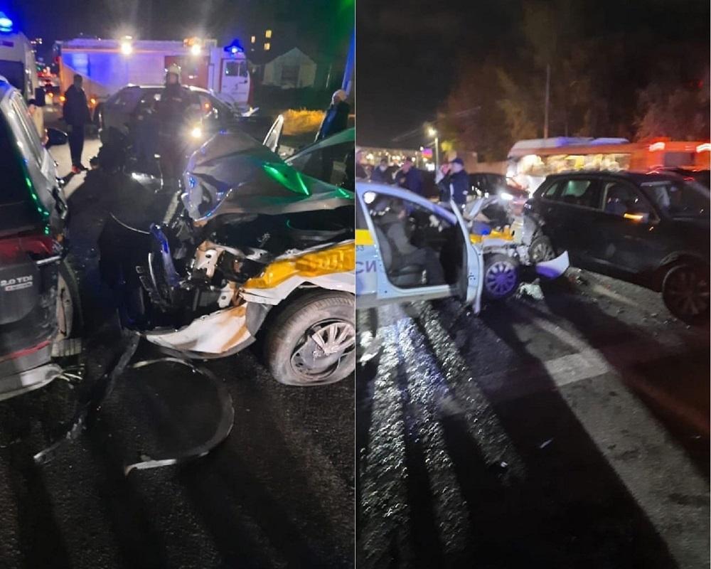 Женщина погибла в массовом ДТП с участием такси в Канавинском районе