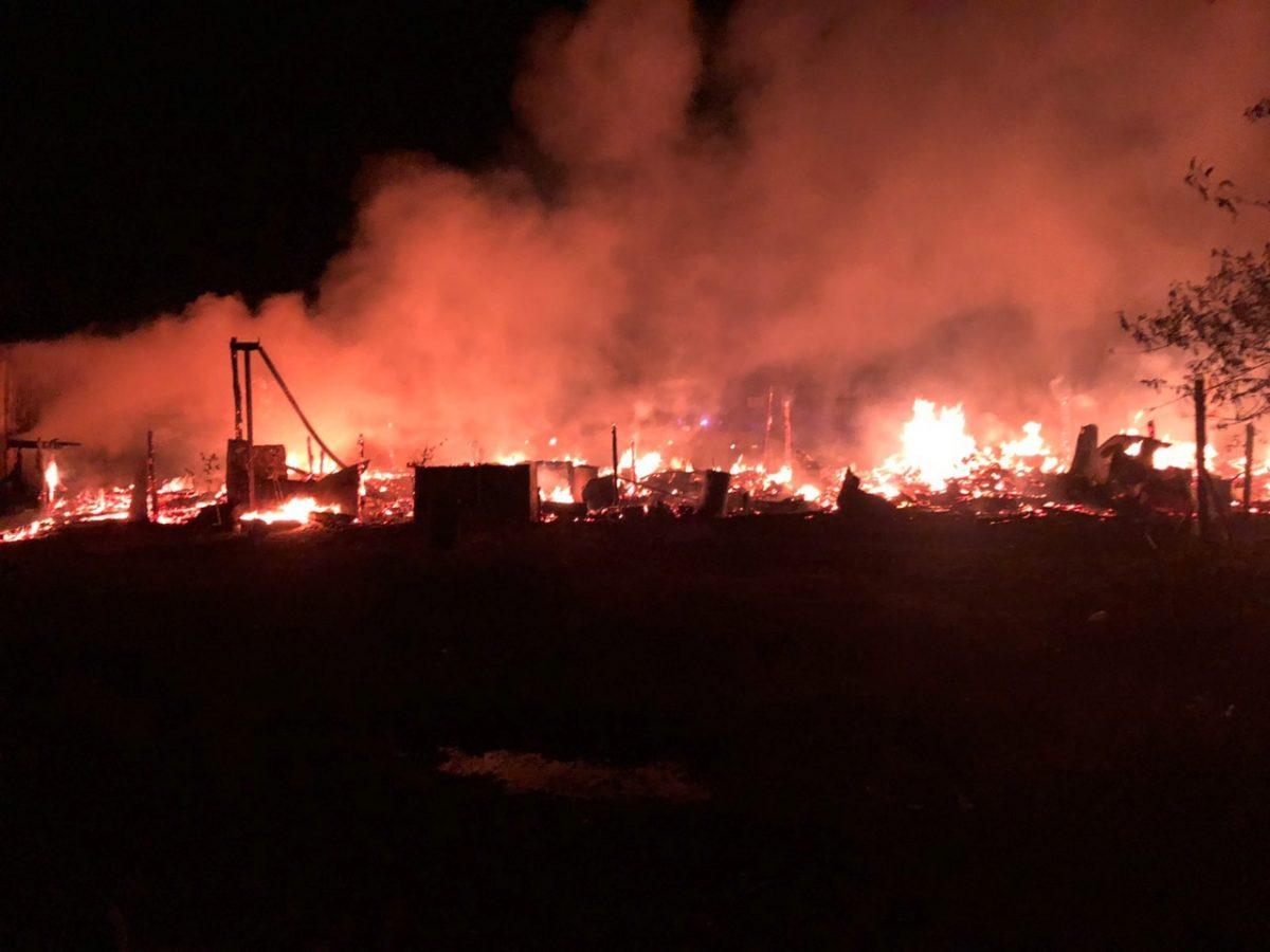Крупный пожар произошёл в селе Ивановское Дивеевского округа