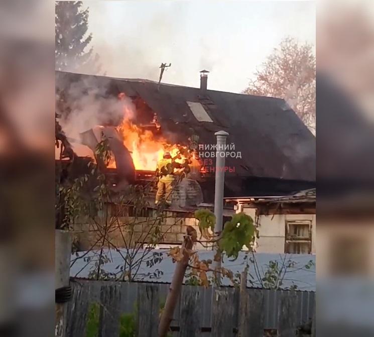 Дом сгорел на улице Кима в Нижнем Новгороде