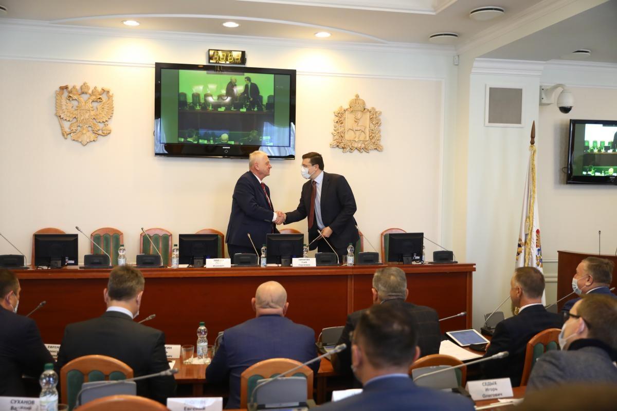Глеб Никитин поздравил депутатов Законодательного собрания VII созыва сначалом работы